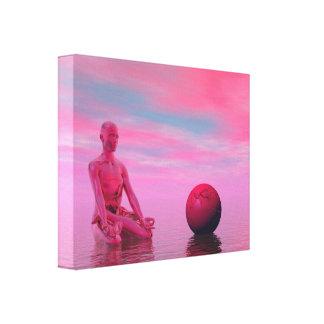 chakra red canvas print