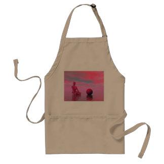 chakra red standard apron