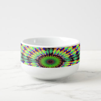 CHAKRA Round Circles Designs Sparkle art Soup Mug