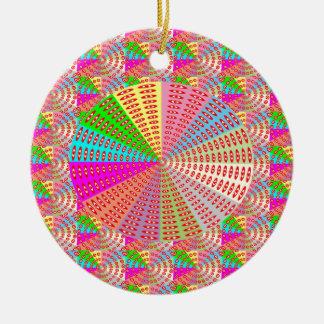 Chakra UNIQUE Round Circle  Artist NAVIN JOSHI Christmas Tree Ornament