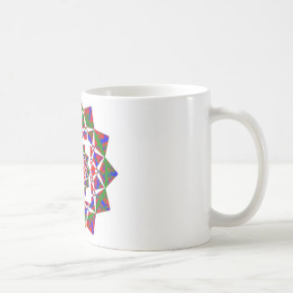 CHAKRA VIEW : Artistic Geometric Formation Basic White Mug