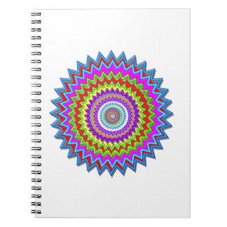 CHAKRA Wheel Illuminated Bright Colors Energy Heal Notebook