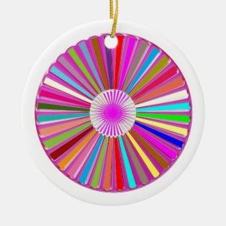 CHAKRA Wheel Round Colorful Healing Goodluck Decor Ceramic Ornament