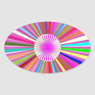 CHAKRA Wheel Round Colorful Healing Goodluck Decor Oval Sticker