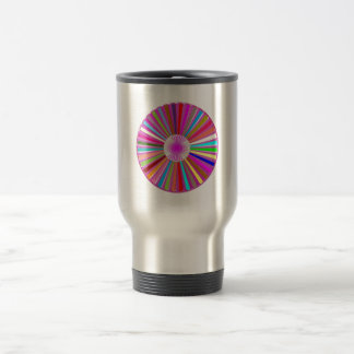 CHAKRA Wheel Round Colorful Healing Goodluck Decor Travel Mug