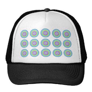 CHAKRA WHEEL Round Neon Sparkle Healing Decoration Trucker Hats