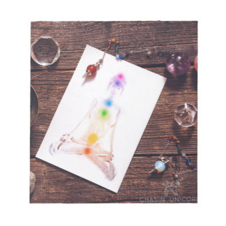 chakras and balance notepad