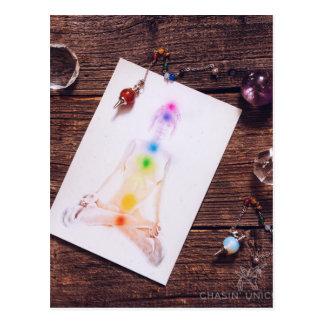 chakras and balance postcard