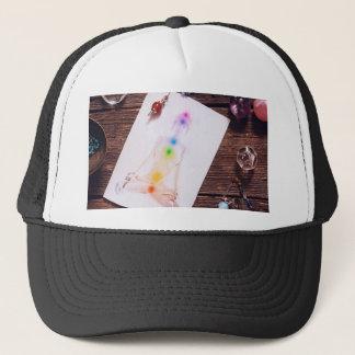 chakras and balance trucker hat