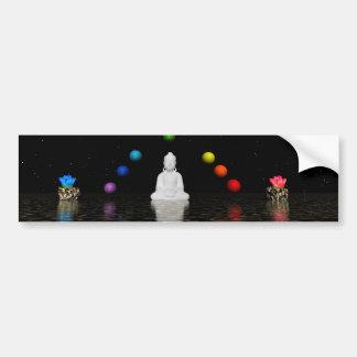 chakras and buddha bumper sticker