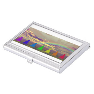 chakras and colors and sky puple yellow business card holder