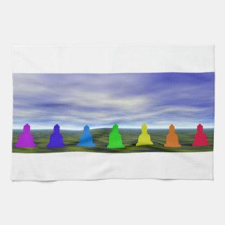 chakras and colors and sky tea towel