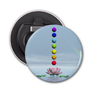 Chakras and rainbow - 3D render Bottle Opener