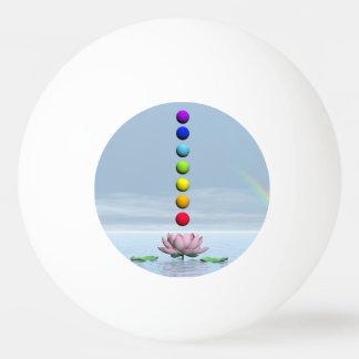 Chakras and rainbow - 3D render Ping Pong Ball