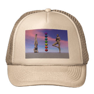 chakras and yoga and sky cap