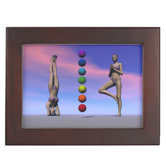 chakras and yoga and sky keepsake box