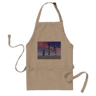 chakras and yoga and sky standard apron