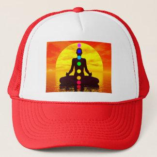 Chakras at sunset - 3D render Trucker Hat