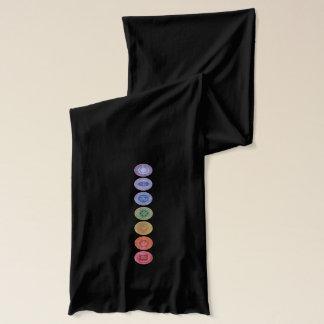 Chakras namaste original art scarves