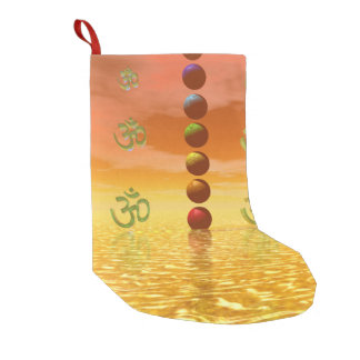 chakras orange small christmas stocking