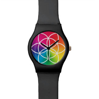 Chakras Rainbow Seed of Life Symbol Watch
