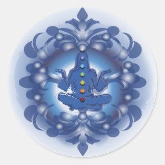 Chakras Round Sticker