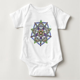 Chalcedony, Marble, And Cut Stone Jewel Baby Bodysuit