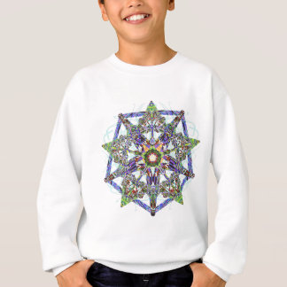 Chalcedony, Marble, And Cut Stone Jewel Sweatshirt