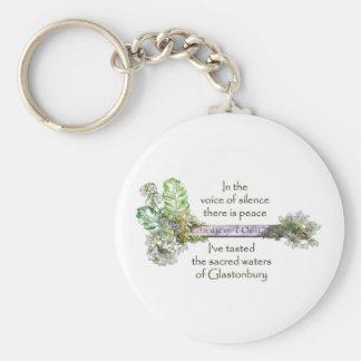 Chalice Well Garden Basic Round Button Key Ring