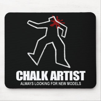 Chalk Artist Mouse Pad