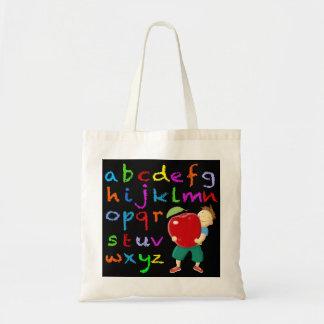Chalk Board Alphabet Budget Tote Bag