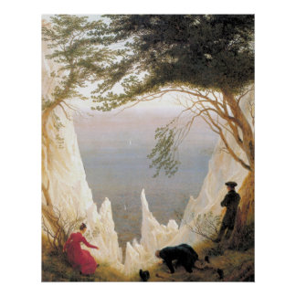 Chalk Cliffs of Ruegen Poster