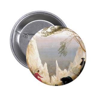 Chalk Cliffs on Rugen 6 Cm Round Badge