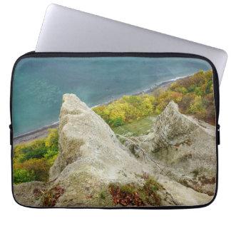 Chalk cliffs on the island Ruegen Laptop Sleeve