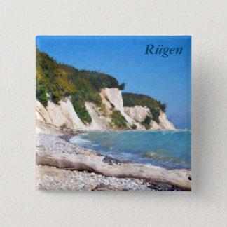 Chalk Cliffs, Ruegen 15 Cm Square Badge