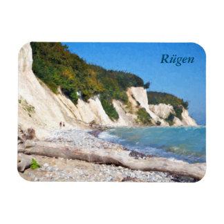 Chalk Cliffs, Ruegen Rectangular Photo Magnet