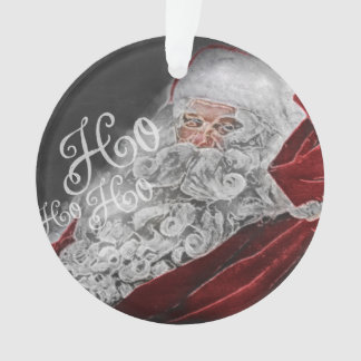 Chalk Drawn Santa Ho Ho Ho Holiday