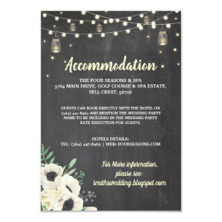 Chalk Floral Rustic Accommodation Fireflies Cards