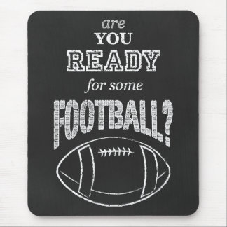 chalk football mouse pad
