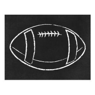 chalk football postcard