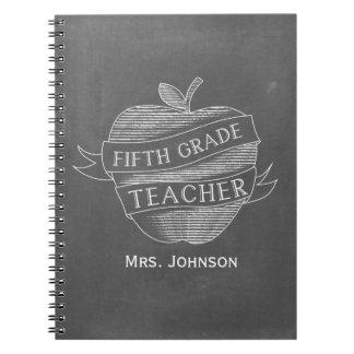 Chalk Inspired Apple 5th Grade Teacher Notebook