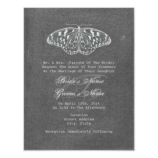 Chalk Inspired Butterfly Wedding Invite