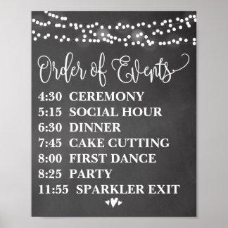 Chalk Lights Order of Events Poster