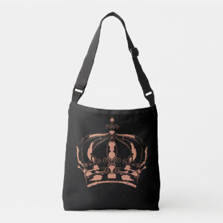 Chalk Pink Pastel Queen Crown Simple Image Crossbody Bag
