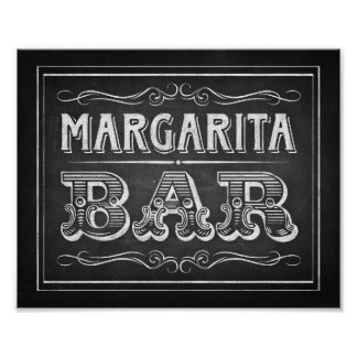 Chalk Style Party Signs / MARGARITA BAR Sign