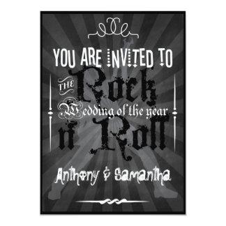 Chalkboard 1950's Rock n' Roll Wedding Invitations