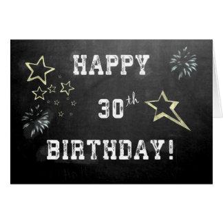 Chalkboard 30th Birthday Card