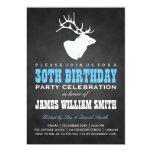 Chalkboard 30th Birthday Party Deer Black Blue