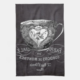 Chalkboard Alice in Wonderland tea party teacup Tea Towel