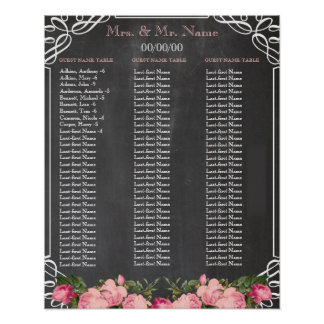 Chalkboard Alphabetical seating chart